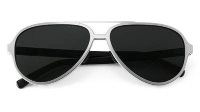 Aviator silver front